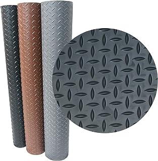 "Rubber-Cal Goodyear Diamond-Plate Rubber Flooring - 3.5mm x 36"""" x 5ft - Brown"