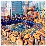 Schwarz Teichfolie Gartenteich HDPE für Fisch Teich Gardens Pools Umweltfreundlich Wasserdichte Teichfolie Gartenteichfolie Fischteich Bachbrunnen Wassergarten, 5m x...