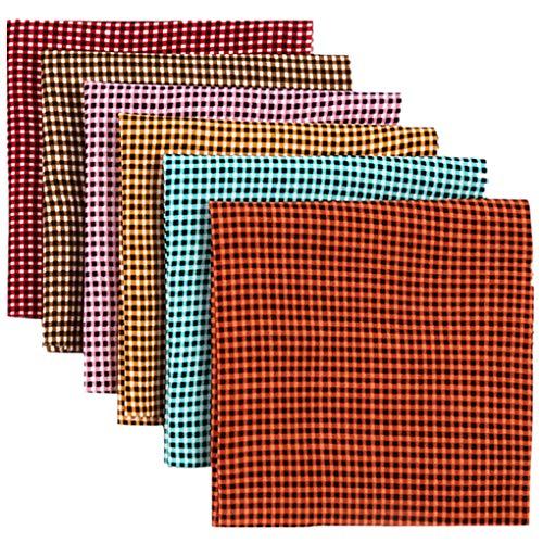 Dorical 12Pcs DIY Baumwollstoff Patchwork mit Elastische Seil/Nasenbügel, Baumwolle Stoff für Scrapbooking Selber Quilten Nähen