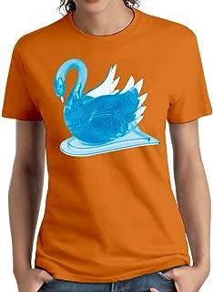 Wxf Womens Blue Swan Particular Tees Orange