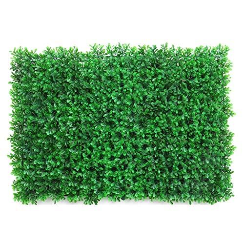 KTYXGKL Planta de hojas artificiales, paneles de la planta de simulación pared, fondo de pared de flor realista, jardín al aire libre Privacidad en Trellis Fence Screen Mat (23.62'x15.75')