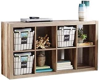 Vinyl Record Storage Rack Stand Shelf LP Crate Album Furniture Vintage Cabinet 8 Cube Unit Bookcase Vertically Horizontally Home Office Dorm Room Reception Area Classroom Furniture & eBook by BADAshop