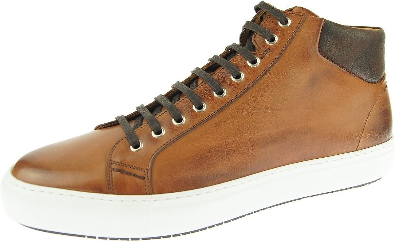 Alex D  Boston Mid-Top Sneaker, Cognac