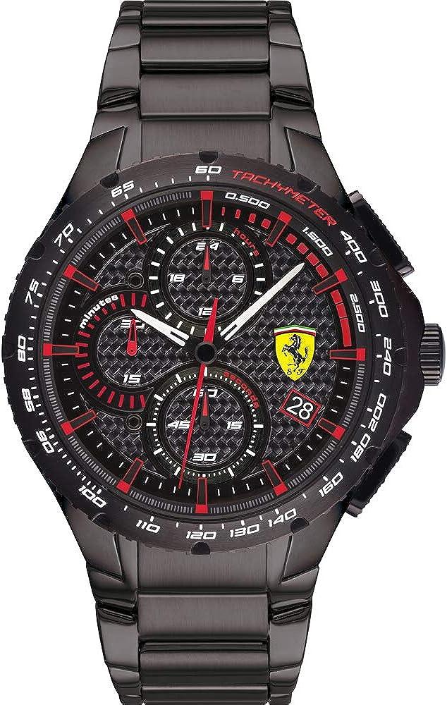 Scuderia Ferrari Reloj Analógico para Hombre de Cuarzo con Correa en Acero Inoxidable 0830730