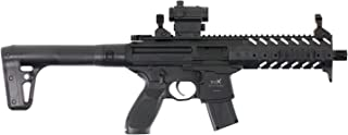 Sig Sauer MPX .177 Cal CO2 Powered SIG20R Red Dot Air Rifle (30 Rounds), Black