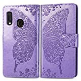 ZTOFERA Flip Case for Samsung Galaxy A40, Butterfly