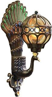مصباح حائط طاووس مبتكر خارجي ضوء أمان كامل IP54 مقاوم للطقس فيلا شرفة خارجية لتزيين الجدار E27 XYIDAI