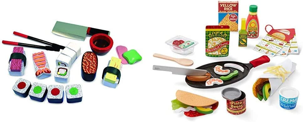 Melissa Doug Sushi Challenge the lowest price of Japan gift Slicing Set Play Taco Tortilla