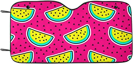 INTERESTPRINT Cosmic Crazy Watermelon Pattern Car Shades for Windshield Shield Visors Sun Blocker for SUV Truck