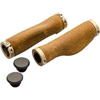 UPANBIKE Bike Grips Leather Double Lock On Fit 22.2mm Handlebar Grips for Mountain Bike Road Bicycle UPANTECH