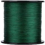 Starbun Línea de Pesca marítima - 1pc 500m PE Trenzado 4 Hilos Líneas de Pesca súper Fuertes Cordón de Cuerda de Pescado de múltiples filamentos Verde (Color : Green 2)