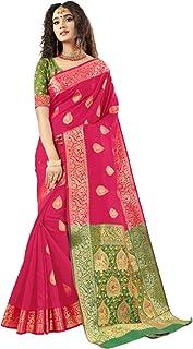 فستان ساري هندي تقليدي تقليدي وردي ناعم من الحرير مع بلوزة قطعة ملابس احتفالية رسمية 6052