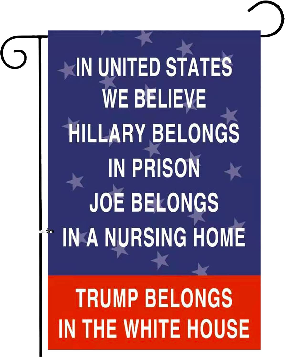 Trump 2024 Garden Flag for Funny Anti Biden Double Sided 12.5 x 18 Inch Yard Flags Outdoor Flags & Banners