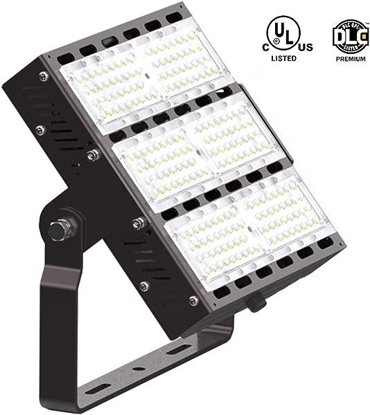 HYPERLITE LED 泛光灯 150W 19 500Lm 450W 相当于 5000K LED 户外泛光灯 UL DLC 合格 IP65 停车场广场仓库建筑外墙防水