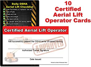 Aerial Lift Operator/Driver Certificate, Training Cards (Package of 10) by Patriot Wholesale Direct