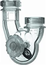 PF WaterWorks PT5021PermaFLOWNever Clog Universal Transparent ABS P-Trap for Kitchen and Bath/Lavatory - Universal Fit 1-...