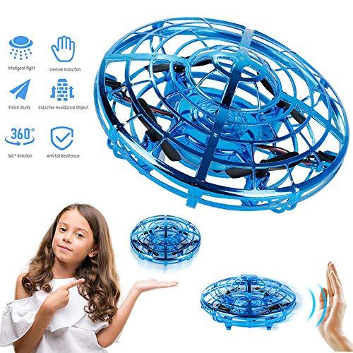 Smartrich Flying Drone UFO Mini Drone controlado a Mano, UFO Flying Helicopter Juegos de Interior para niños Juegos con Luces LED Regalos de cumpleaños de Navidad