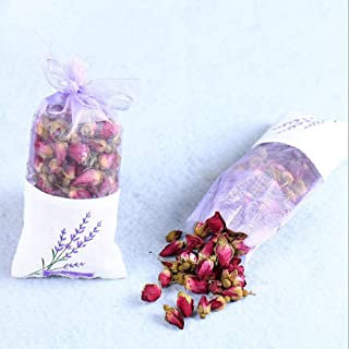 Lydia88 Organic Dried Flowers Sachet - Natural Deodorant, Moth Repellent, Edible Flowers Purple Craft 2 Bags Package (Rose)