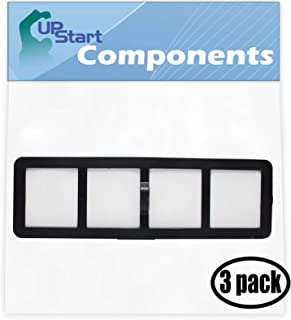 UpStart Battery 3-Pack Replacement for Eureka Airspeed AS1050A Bagless Cyclonic Uprights Vacuum HEPA Filter with 7-Piece Micro Vacuum Attachment Kit - Compatible with Eureka EF-6 HEPA Filter