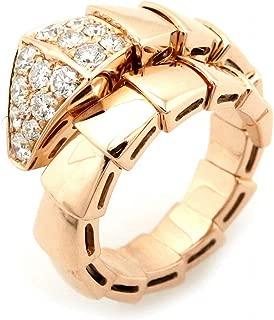 [ブルガリ] BVLGARI セルペンティ スネーク リング 指輪 ピンクゴールド K18PG 750 PG パヴェダイヤ ダイヤモンド #M 10-13号 345206