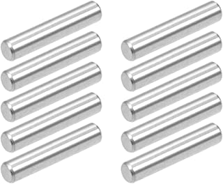 uxcell 10Pcs 4mm x 20mm Dowel Pin 304 Stainless Steel Shelf Support Pin Fasten Elements Silver Tone