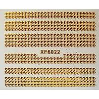 2020ステッカーデザインネイルアート装飾ネイルロゴステッカー装飾DIYブランドアートゴールデンストライプフラワーマニキュア