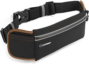 يوجرين -حزام خصر للرياضيين لسامسونج غالاكسي S8/Note8/S8+/S9، ايفون X/8Plus/8/7/6 والمزيد من الهاتف، الحماية للماء والإشعاع - اسود