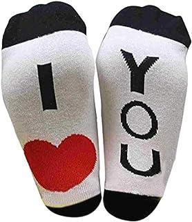 Peahop - Calcetines Divertidos de algodón con Mensaje Bring Mir Ein Bier I Love U a