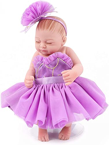 venta directa de fábrica Unexceptionable-Dolls muñecos bebé,muñeCA bebé,muñeCA bebé,muñeCA Reborn Baby Mini niña de 10 Pulgadas Vestido púrpura promoción colección Princesa Fald  lista bebé recién Nacido boneca Regaño de cumpleaños para niñas  exclusivo