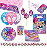 amscan- Set de fiesta Shimmer & Shine, Multicolor (10118862)