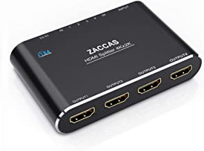 Best HDMI Splitter 1 in 4 Out-ZACCAS 4k Aluminum HDMI Splitter 1x4 for Dual Duplicate Monitors Mirror with Same Image Support 4k@30hz Full HD 1080P for Roku Fire Stick Xbox PS4 Blu-Ray Player HDTV Review