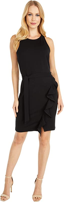 Ponte Dress with Wrap Skirt
