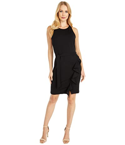 BB Dakota x Steve Madden Ponte Dress with Wrap Skirt (Black) Women