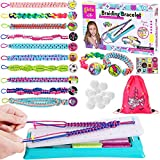 Toyssa Kit de Hilos para Hacer Pulseras DIY Pulsera de Amistad con 12 Coloridas Hilos Kit de...