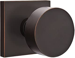 Square Rosette Door Set with Disc Knobs Double Dummy in Oil Rubbed Bronze