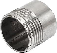 dorado Tubo roscado SENRISE 2 piezas 1//2 lat/ón Tetina de correr largo roscado fontaner/ía de ajuste para conectores de tanque
