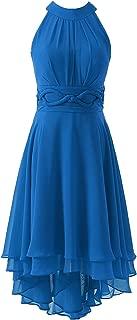 DYS Women's Short Bridesmaid Dresses Hi Lo Prom Homecoming Dress Chiffon