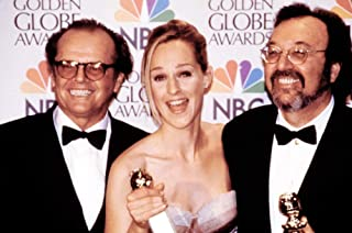 Posterazzi Poster Print Collection Jack Nicholson Helen Hunt James L. Brooks with Their Golden Globe Awards for As Good As It Gets 1998 Celebrity (20 x 16)