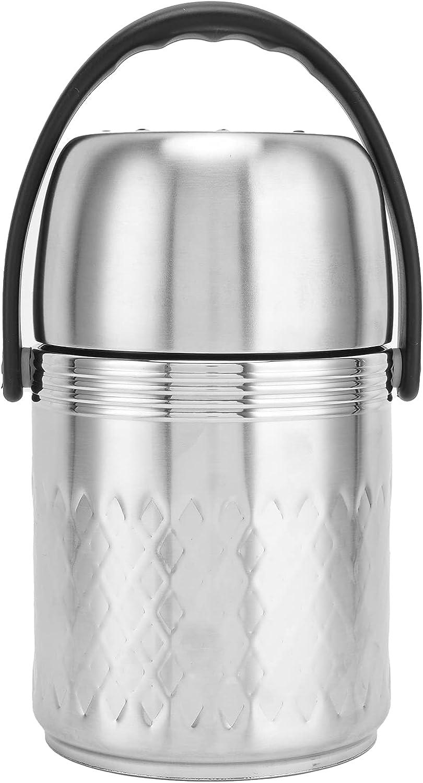 Fiambrera térmica, Fiambrera aislada de acero inoxidable de 1,5 L Fiambrera térmica portátil de múltiples capas