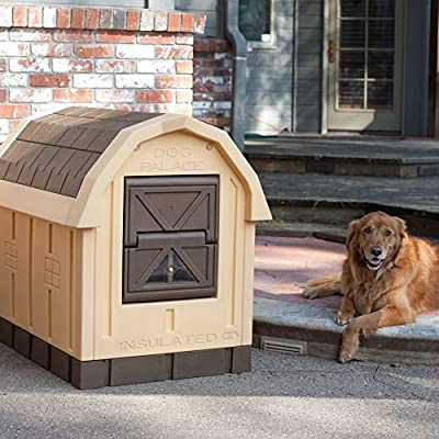 """ASL Solutions Deluxe Insulated Dog Palace with Floor Heater (38.5"""" x 31.5"""" x 47.5"""")"""