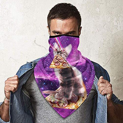 WCUTE Espace Laser Chat Équitation Bacon Magique Chapeaux Foulard Bandanas Moto Bandeaux Tube Écharpe Cou Guêtre Casque