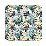 Ceba Baby Wickelauflage Wickelunterlage Wickeltischauflage 80x75 cm, 50x70 cm, 70x75 cm Abwaschbar - Tucan 75 x 70 cm