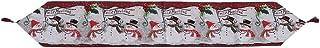 LIOOBO Camino de Mesa de Navidad Santa Claus muñeco de Nieve Bufanda de Mesa aparador Decoraciones de Cena de Navidad para...