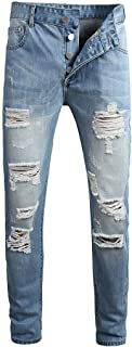 MODOQO Mens Jeans Big and Tall Comfort Stretch Slim Relaxed Fit Classic Pants