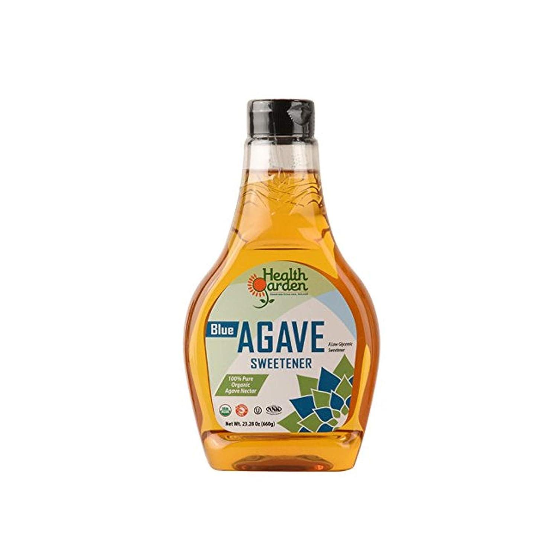 Health Garden Blue Agave Nectar Sweetener - Organic - Non GMO - Low Glycemic - Kosher - Keto Friendly (11.6 oz)