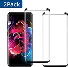 KZLVN [2 Pack] Galaxy S8 Glass Screen Protector,9H Hardness Anti-Scratch Tempered Glass Screen Protector Film for Samsung Galaxy S8