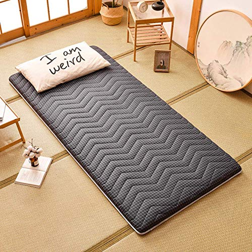 DJQ Traditional Japanese Futon Mattress, Foldable Tatami Mattress Topper Roll Up Guest Bed Easy to Carry for Dormitory F 90x200cm (35x79inch)