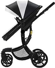 Department Store Sillas de Paseo Cochecito de bebé 2 en 1 de Alta Paisaje Multifunctionc Can Sentarse o acostarse Plegable Cuatro Estaciones Ligera Cochecito (Color : Black)