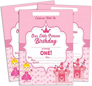Darling Souvenir Pink Birthday Invitation Card Printable Elegant Fill or Write in Blank Party Invites 28 Pcs 5 x 7 Inches