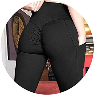 Zhi Fan Womens High Waist Workout Leggings with Pockets Patchwork Sexy Hips Push Up